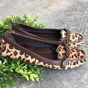 J. Crew Leopard Print Ponyhair Moccasin Loafer